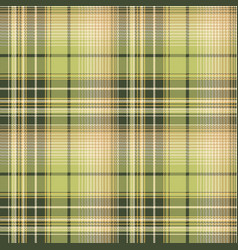 Green beige pixel check fabric texture seamless vector
