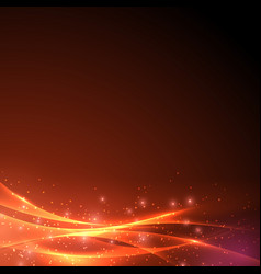 Sparkling abstract swoosh wave light background vector