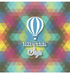 Hipster background with air balloon vector image