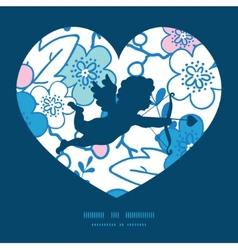 blue and pink kimono blossoms shooting vector image