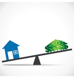 Cost of house increases concept vector