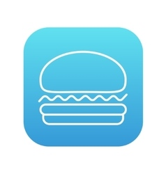 Hamburger line icon vector