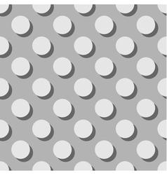 Tile grey pattern or background with big polka dot vector image