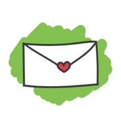 Cartoon doodle love letter vector