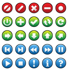 Smooth Buttons vector image