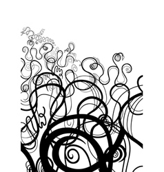 Black and white abstract swirl vector