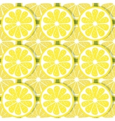 Seamless pattern slices of lemon vector