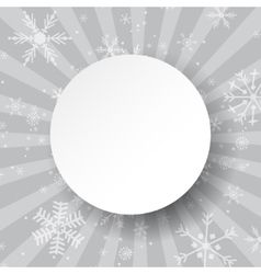 Abstract light grey Christmas card Christmas vector image