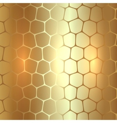 Abstract metal gold background with polygons vector