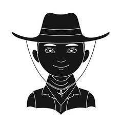 amnricanianhuman race single icon in black style vector image vector image