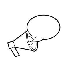 Announcement megaphone bubble speak broadcast vector