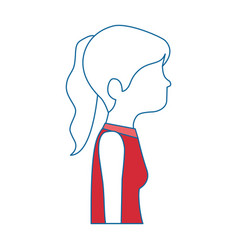 beautiful woman profile avatar character vector image vector image