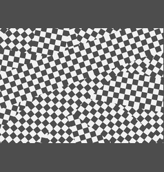 black and white geometric optical vector image vector image