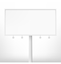 Blank white billboard vector image vector image