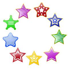 colorful stars circle vector image vector image