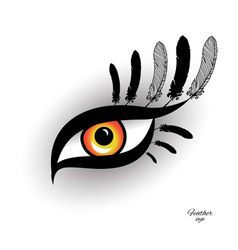 Feather eye for exotic design vector