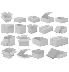 Grey cardboard boxes vector image