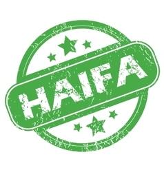 Haifa green stamp vector