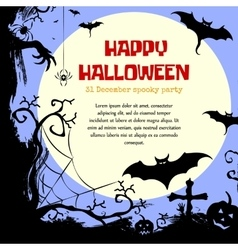 Halloween styled frame design with place for text vector image
