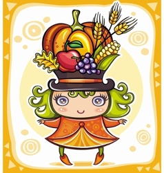 harvest girl vector image