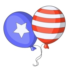 Independence day balloons icon cartoon style vector