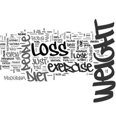 is it best to diet or exercise for weight loss vector image vector image