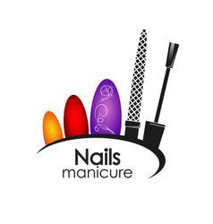 manicure design vector image