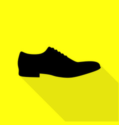 men shoes sign black icon with flat style shadow vector image vector image