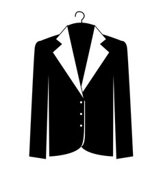 Monochrome silhouette of the male formal jacket in vector