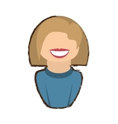 People commoner woman icon image vector