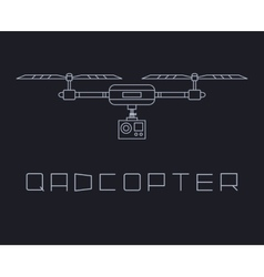 quadrocopter dron with action camera icon simple vector image vector image