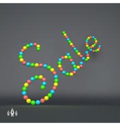 Sale 3d text business design vector