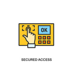 secured access icon vector image vector image