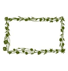 sketch frame with flower motive vector image vector image