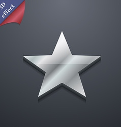 Star favorite icon symbol 3d style trendy modern vector