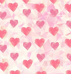 Triangle hearts background vector image vector image