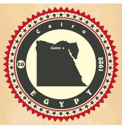 Vintage label-sticker cards of egypt vector