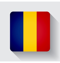 Web button with flag of Romania vector image vector image