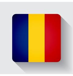 Web button with flag of romania vector