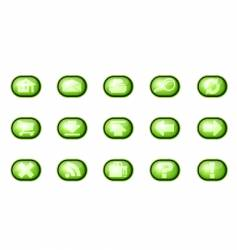 web icons a green vector image