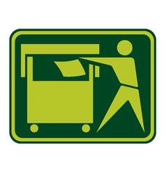 Recycling sign label vector