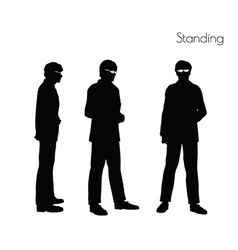 Man in standing pose vector