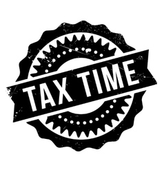 Tax time stamp vector image
