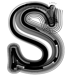 abstract font letter s vector image