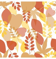 Seamless bright leaves pattern vector
