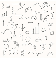 Set of hand drawn arrows sketched style vector