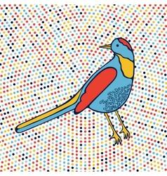 An of beautiful colorful bird vector image