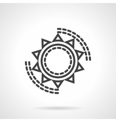 Sun symbol black line icon vector
