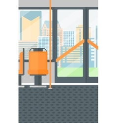 Background of modern empty city bus vector