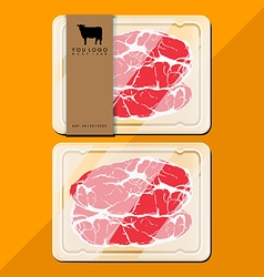 Beef package vector